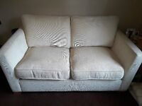 Cream Sofa Bed - Good Condition, Mattress Recently Replaced