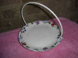 Collectable Poole Cake serving plate with handle.