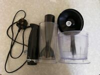 Breville Black Plastic Hand Blender & Chopper