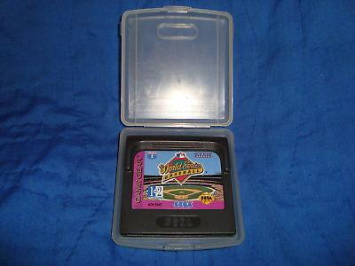 Sega Game Gear World Series Baseball game & PVC case