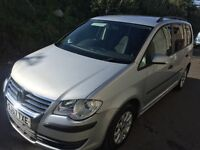 VW TOURAN 2007 1.6 petrol, cheap on fuel and insurance