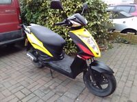 2013 Kymco Agility RS 50 scooter, MOT, good condition, runs well, standard 50cc, does 30mph, bargain