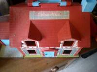 Vintage ? Fisher Price dolls house and garage