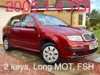 2005 Skoda Fabia 1.4 TDI Ambiante***Diesel***FSH***Long MOT***