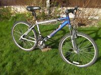 "Apollo Front suspension mountain bike.26"" alloy wheels,18""aluminum front suspension frame, 21 gears"