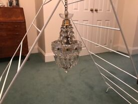 """Elegant Glass Chandelier. Approx 16"""" high in excellent condition"""