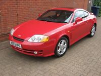 HYUNDAI COUPE 2.0SE RED 2003 (MOT booked in this Friday 2nd Sept.)