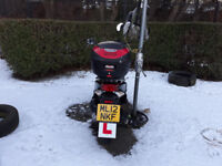 Honda vision 110 cc , 4800 miles , 2012 reg, asking for £1400 with top box and alam,