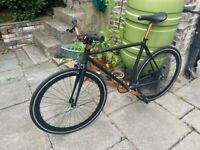 Made dot com Colwyn Single Speed or Fixed gear City Bike, Black and Copper, for rider 5'4 - 5'9ft