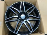 me136 staggered Mercedes style alloy wheels 19 inch 5x112 e class c e