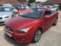 2007/57 FORD FOCUS CC 2.0 CC-2 CABRIOLET 2 DOOR,IN RED,GREAT CONDITION AND ECONOMY,DRIVES WELL
