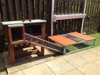 Large Guinea Pig/Rabbit Hutch with large run