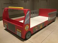 Kids fire engine bed without mattress