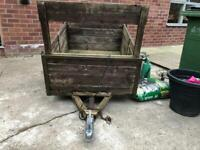 **NOW REDUCED** SMALL TRAILER FOR SALE** with electrical cabling 3x4FT