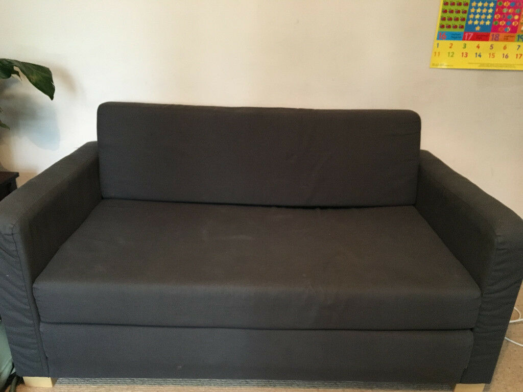 Free Ikea 2 Seater Sofa Bed Solsta Navy Blue