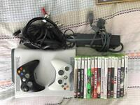 Xbox 360, 2 x controller, good headset, 16 games