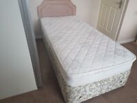 Single bed /mattress and headboard Free delivery Today