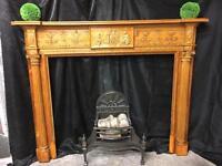 Antique Georgian Pine & Gesso Fireplace Surround