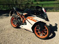 Ktm rc 125 2016 6 months old brand new condition
