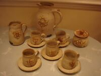 BLACK MOUNTAIN HAND MADE WELSH TEA/COFFEE SET (NEVER USED)