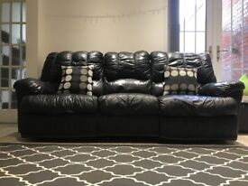 FOR SALE! Black Recliner Sofa 3 Seater and 1 Seater