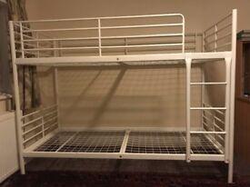 Metal Bunk Bed - White