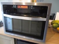 John Lewis Combined Microwave Grill Oven integrated JLBIC03 built in stainless bread dough baking