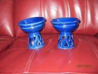 2 Tealight holders in blue