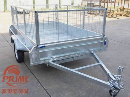 Fully Welded Chequer Plate 8x5ft Galvanized Tipper Cage Trailer Pooraka Salisbury Area Preview