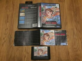 Sega Mega drive Alex Kidd in the enchanted castle complete in box with manual
