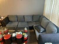 5 seater corner sofa + 2 seater