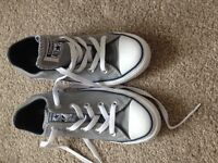 New leather Converse shoes Size 3