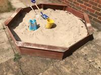 Large solid sandpit