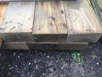 🌲 Tanalised Wooden/ Timber Railway Sleepers ~ Various Sizes 🌲