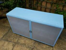 Ikea BESTA storage unit painted blue