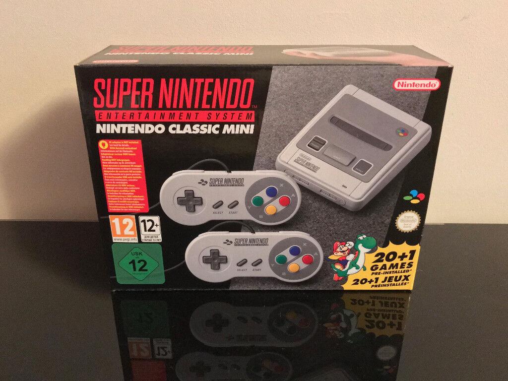 Nintendo Classic Mini: Super Nintendo Entertainment System SNES. Brand New