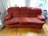 2 Free Red Sofas (Collection Only)