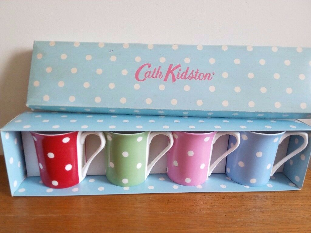 Cath Kidston Spot Gift Box of 4 Mugs