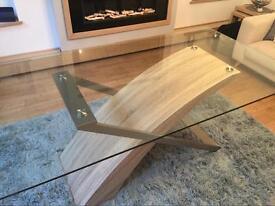 Oak veneer dining room table.