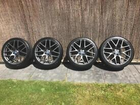 """Vauxhall Astra J GTC inc VXR 20"""" TSW Nurburgring wheels and tyres."""