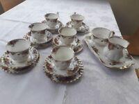Royal Albert Old English Rose Tea Set and Sandwich Plate