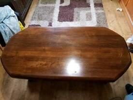 Quality Large Dark Oak Coffee Table