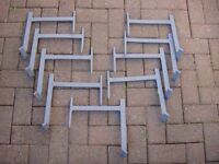 Roof Irons for one scaffolding board x9