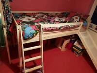 Single Mid-Sleeper Bed with Slide
