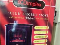 DIMPLEX CLUB OPTIFLAME CLB20L CAST IRON ELECTRIC STOVE MATT BLACK FINISH