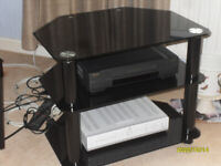 Black Glass TV Stand with 3 Tiers.