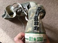 Converse All Star High Canvas Trainers Camo Size 5.5 Women with metal inserts