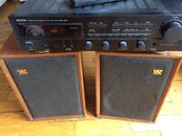 Vintage Wharfedale DENTON Speakers DenonTuner Amp