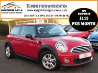 2011 MINI ONE 1.6 ONE 2 OWNERS 66241 MILES FULL SERVICE HISTORY BLUETOOTH CRUISE CONTROL IMMACULATE