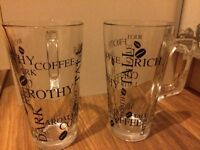 A pair of latte glasses
